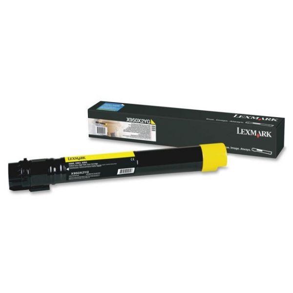 Lexmark X950X2YG Yellow Extra High Yield Toner Cartridge