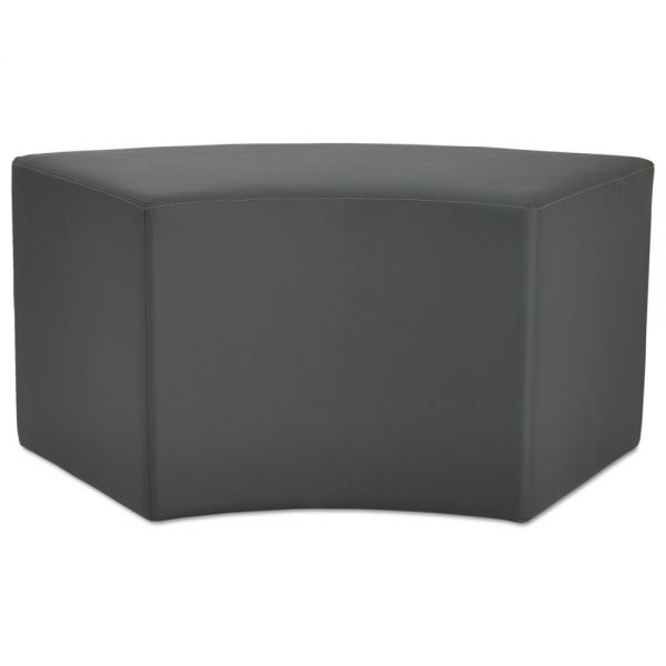 Alera WE Series Collaboration Seating, Arc Bench, 38 3/8 x 21 x 18, Slate