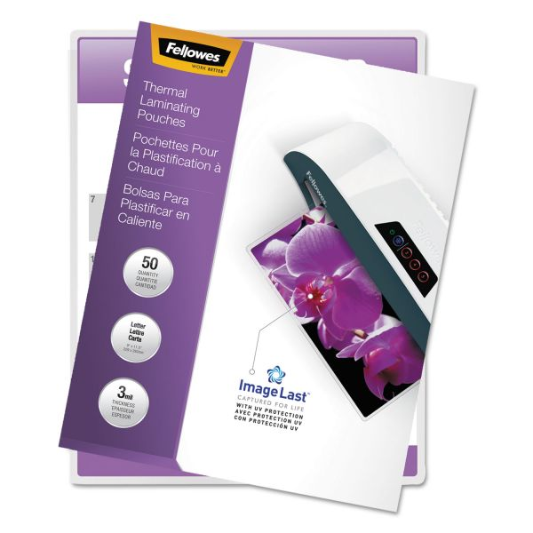 Fellowes Letter Size Laminating Pouches