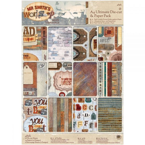 Papermania Ultimate A4 Die-Cuts & Paper Pack 48/Pkg