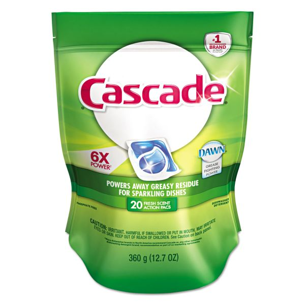 Cascade Dishwasher Soap Action Pacs