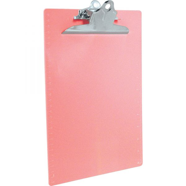 Saunders Recycled Pink Plastic Clipboard