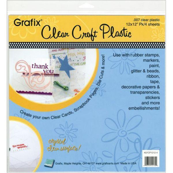 "Craft Plastic Sheets 12""X12"" 4/Pkg"