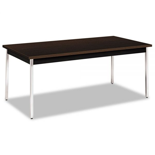 HON Utility Table, Rectangular, 72w x 36d x 29h, Mocha/Black