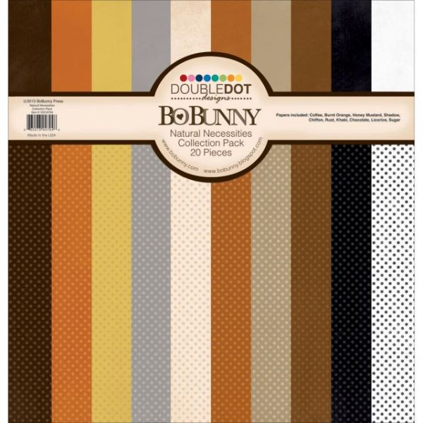 BoBunny Double Dot Natural Necessities Cardstock Collection Pack
