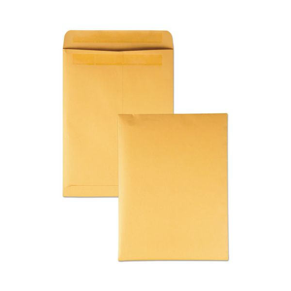 Quality Park Redi Seal Catalog Envelope, 9 x 12, Brown Kraft, 250/Box