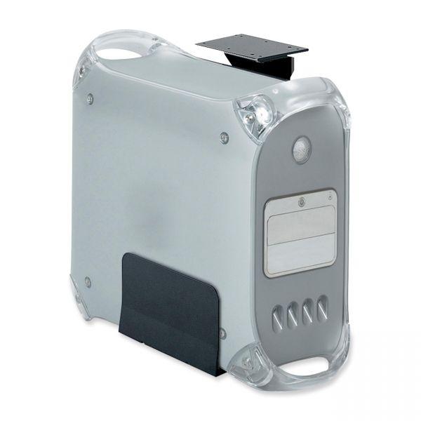 Safco Ergo-Comfort Fixed-Mount CPU Holder, 7-7/8-12-5/8 x 9-1/2 x 23-3/4, Black