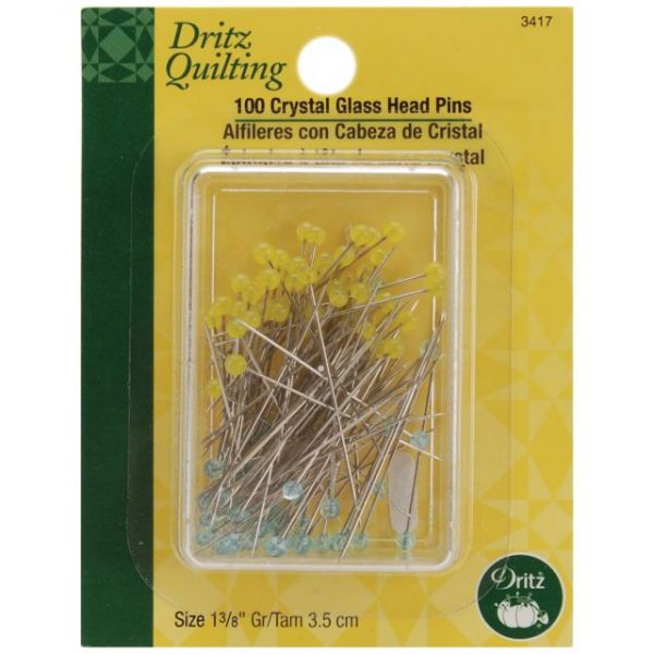 Dritz Quilting Crystal Glass Head Pins