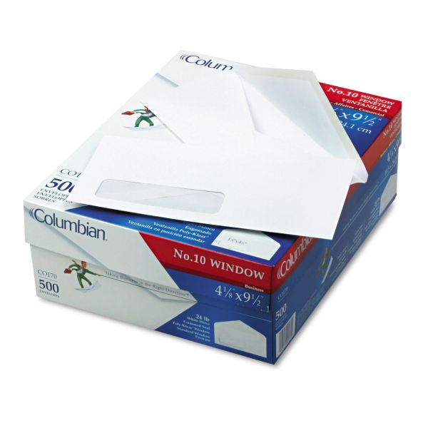 Columbian Standard Poly-Klear Window Envelopes
