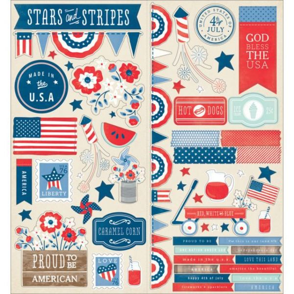 "Americana Cardstock Stickers 6""X12"" 2/Pkg"