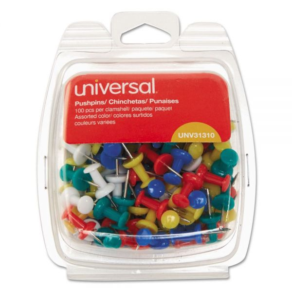 Universal Rainbow Color Push Pins