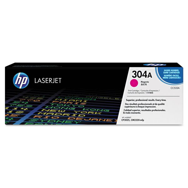 HP 304A Magenta Toner Cartridge (CC533AG)
