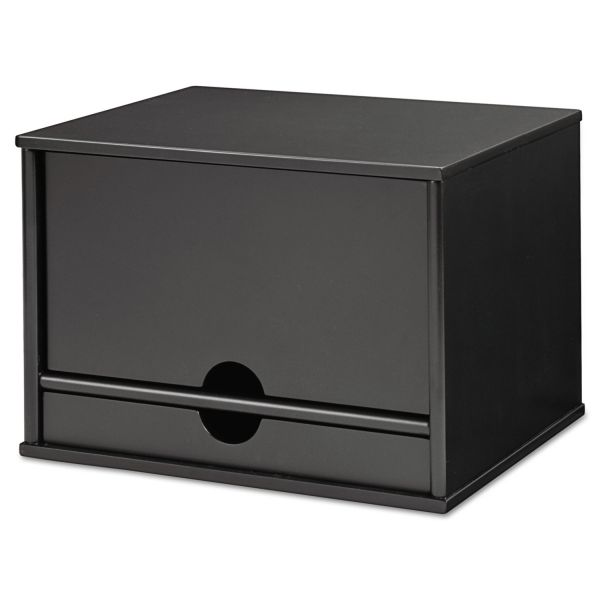 Victor Midnight Black Collection Desktop Organizer