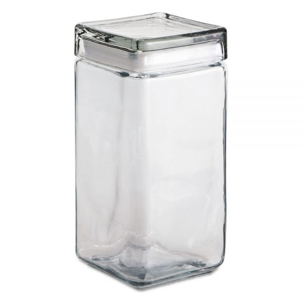 Anchor Stackable Square Glass Jars