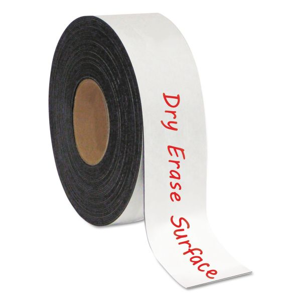"MasterVision Dry Erase Magnetic Tape Roll, White, 2"" x 50 Ft."