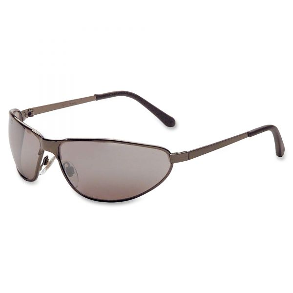 Uvex by Honeywell Tomcat Safety Glasses, Gun Metal Frame, Silver Mirror Lens