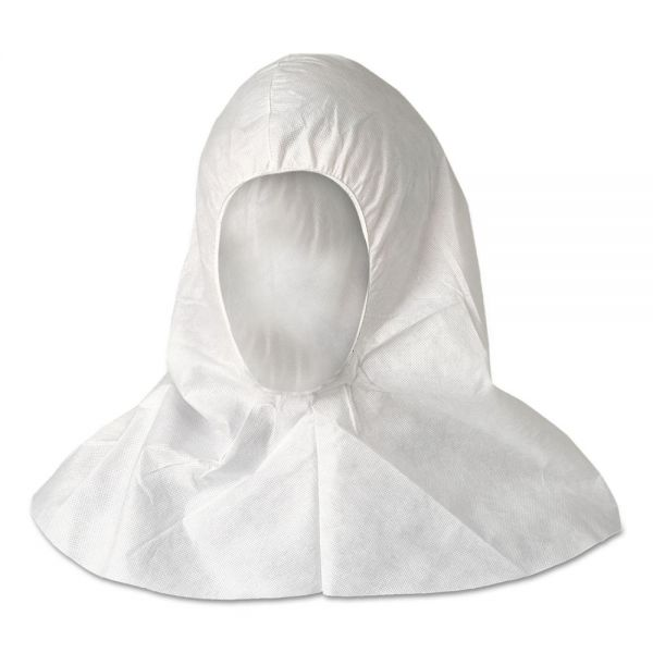 KleenGuard* A20 Breathable Particle Protection Hood, White, One Size Fits All, 100/Ctn