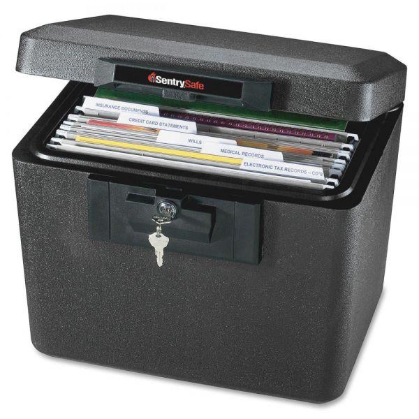Sentry Safe Security Letter Size Hanging File, 0.61 ft, 15 1/4w x 12 1/8d x 13 5/8h, Black