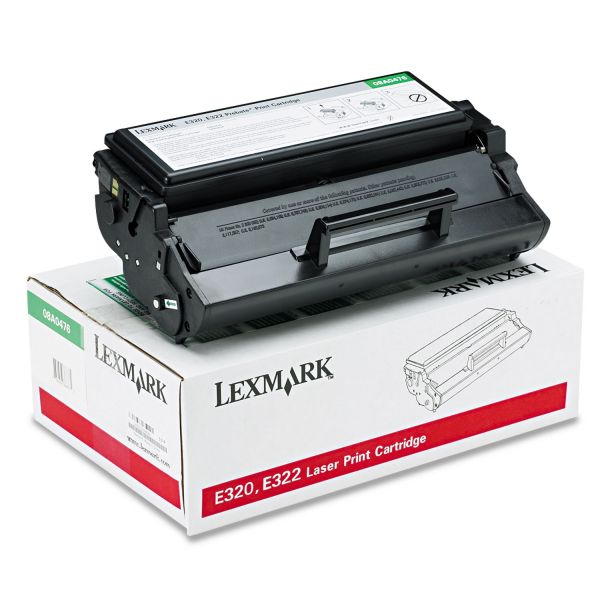 Lexmark 08A0476 Toner, 3000 Page-Yield, Black