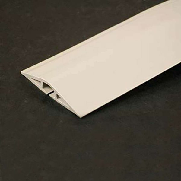 C2G 15ft Wiremold Corduct Overfloor Cord Protector - Ivory