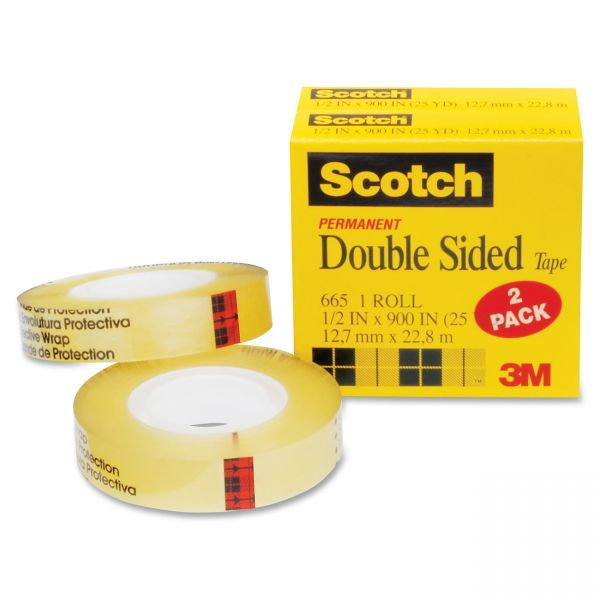 Scotch Permanent Double Sided Tape Refills