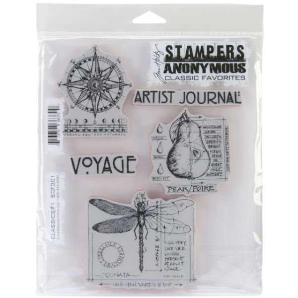 """Stampers Anonymous Rubber Stamp Set 7""""X8.5"""""""