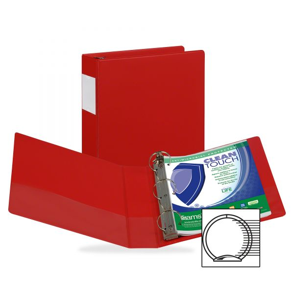 "Samsill Antimicrobial Locking 2"" 3-Ring Binder"
