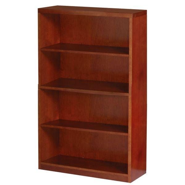 Mayline Mira Series Wood Veneer Four-Shelf Bookcase
