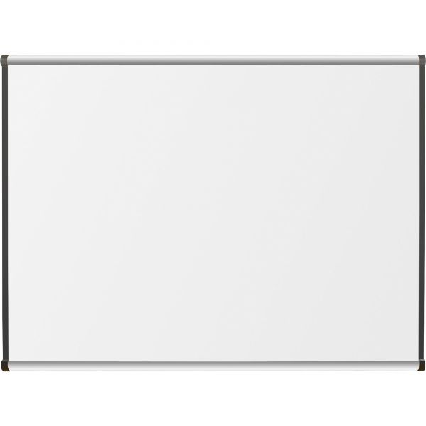 "Lorell 48"" x 36"" Superior Surface Satin Finish High-Pressue Laminate Dry Erase Whiteboard"