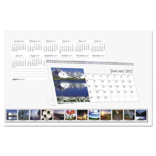 House of Doolittle Scenes Monthly Desktop Tent Calendar