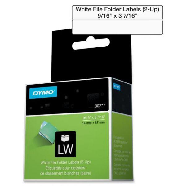 Dymo White 2-Up File Folder Labels