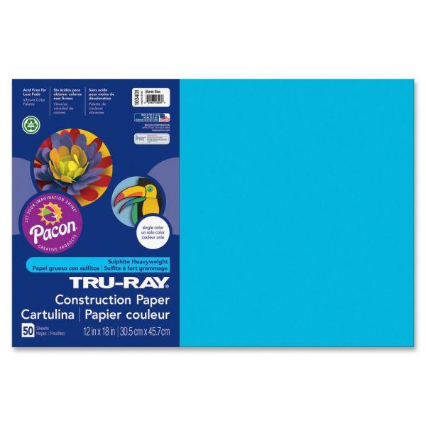 Tru-Ray Heavyweight Sulphite Blue Construction Paper