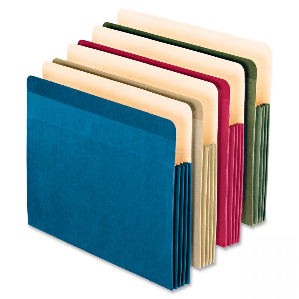 Pendaflex Earthwise Recycled Colored Expanding File Pockets
