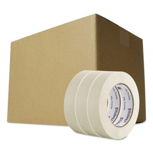 "Universal General Purpose Masking Tape, 24mm x 54.8m, 3"" Core, 3/Pack, 12 Packs/Carton"