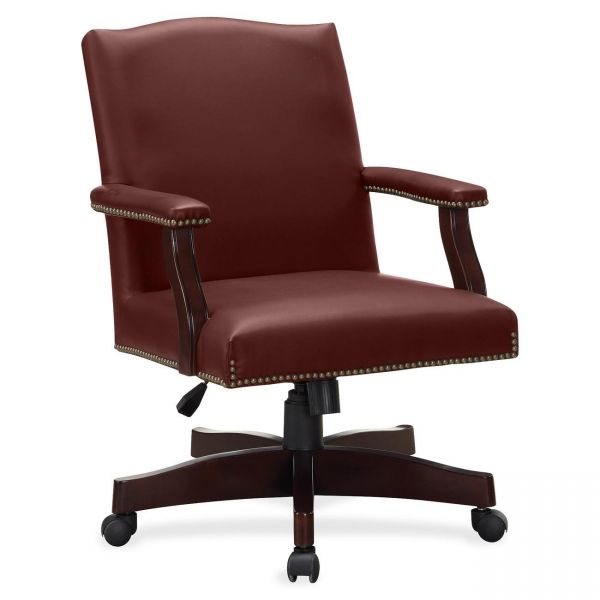 Lorell Traditional Executive Bonded Leather Office Chair