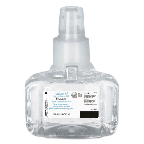 PROVON Clear & Mild Foam Hand Wash, 700mL Refill, Unscented, 3/Carton