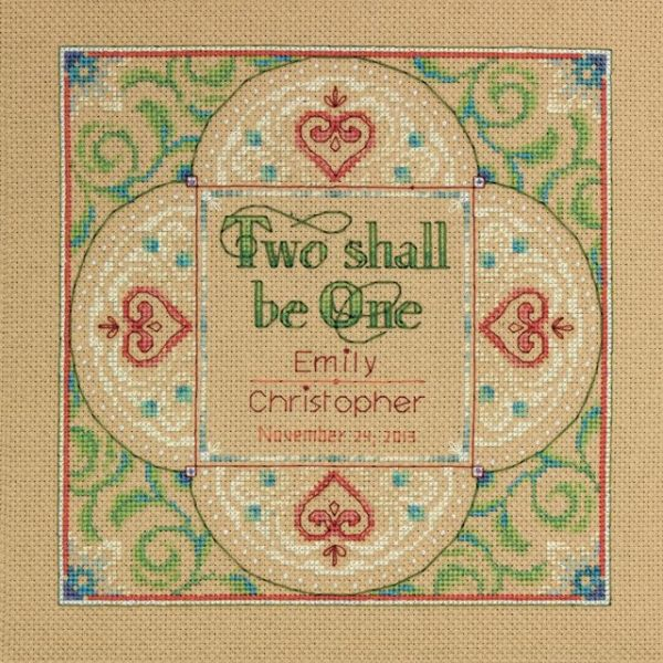 Two As One Wedding Record Counted Cross Stitch Kit