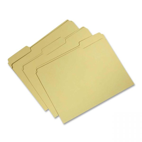 Skilcraft Recycled Yellow Colored File Folders