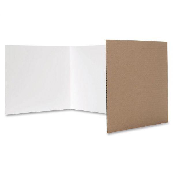 Flipside White Tri-fold Study Carrel