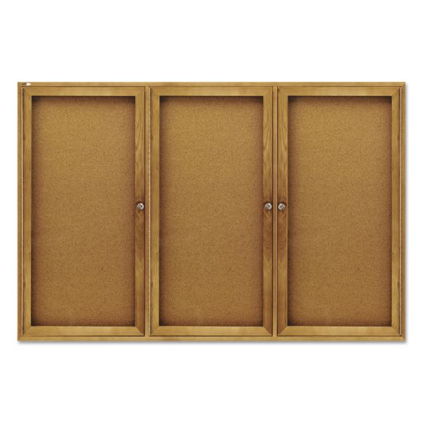 Quartet Enclosed Cork Bulletin Board