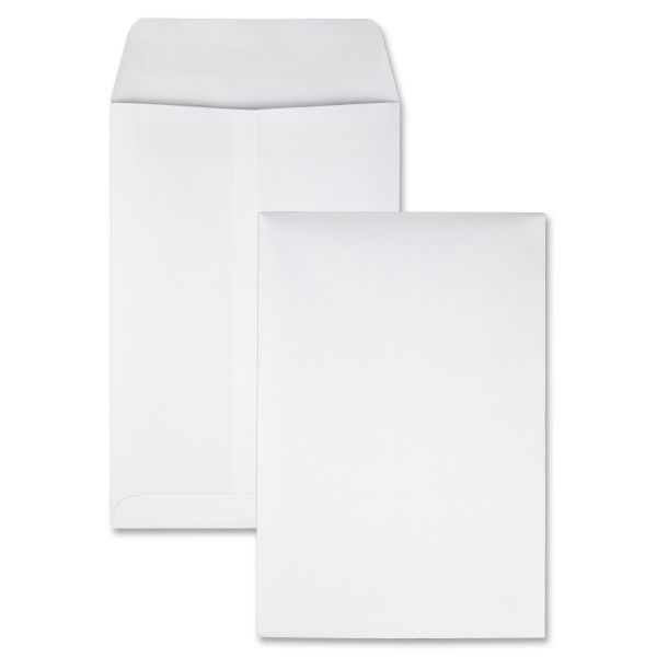 Quality Park Redi Seal Catalog Envelope, 6 1/2 x 9 1/2, White, 100/Box