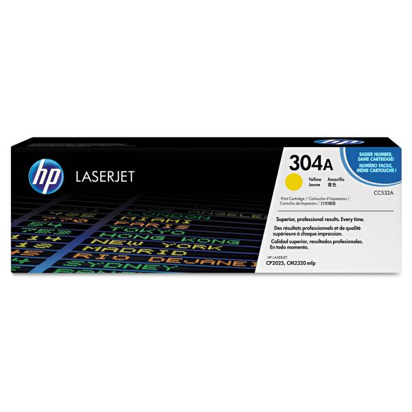 HP 304A Yellow Toner Cartridge (CC532AG)