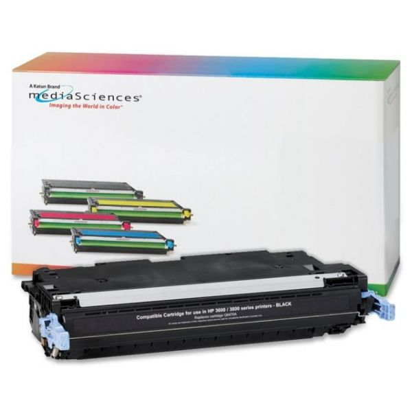 Media Sciences Remanufactured HP 501A Black Toner Cartridge