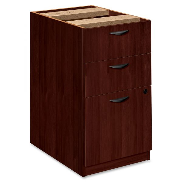 "HON basyx by HON BW Series Veneer Pedestal File | 2 Box / 1 File Drawer | 15-5/8""W"