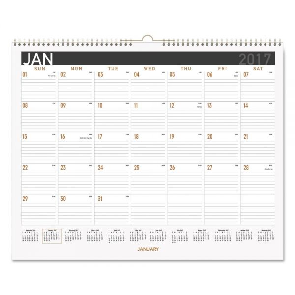 AT-A-GLANCE Contemporary Medium Monthly Wall Calendar