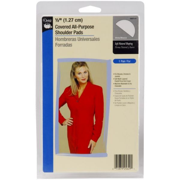"1/2"" Covered All-Purpose Shoulder Pads 2/Pkg"