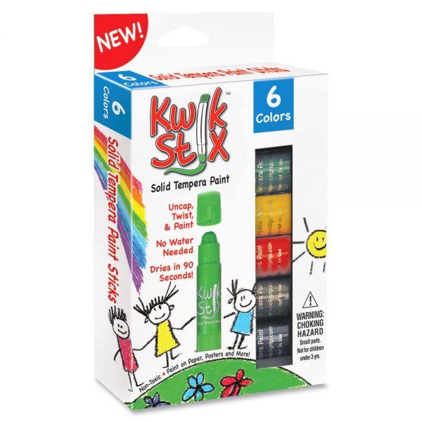 The Pencil Grip Pencil Grip Kwik Stix 6-color Solid Tempera Paint