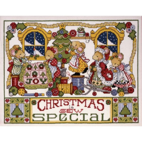 Christmas Is Sew Special Counted Cross Stitch Kit