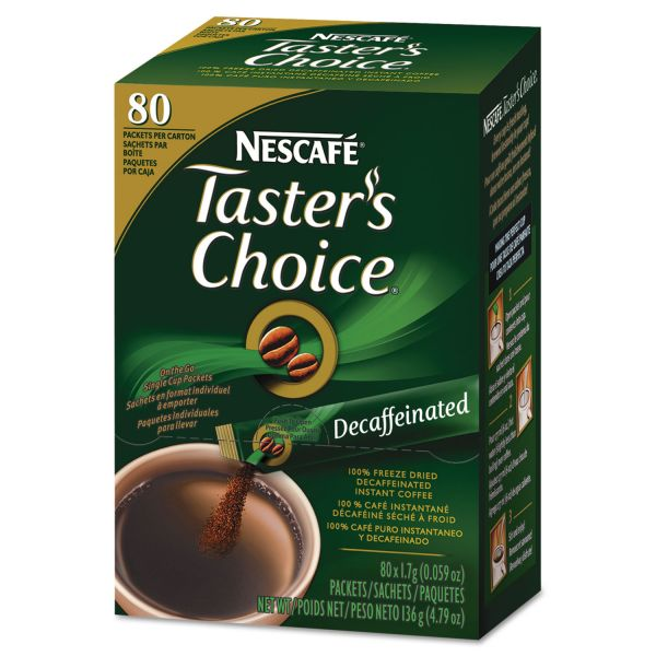 Nescafé Premium Instant-Coffee Single-Serve Sticks - Decaf