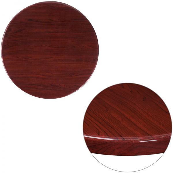 "Flash Furniture 24"" Round Resin Mahogany Table"